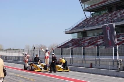 Despues de conducir el Formula Renault
