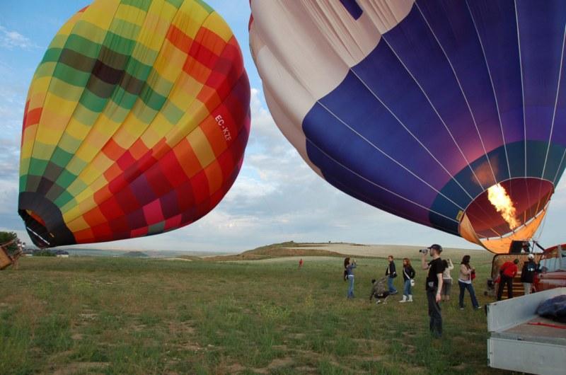 Hinchando globos