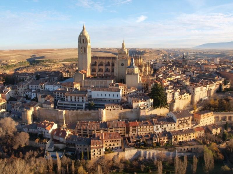 Catedral de Segovia desde el globo