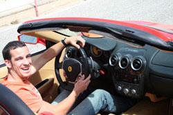 Pilotando un Ferrari