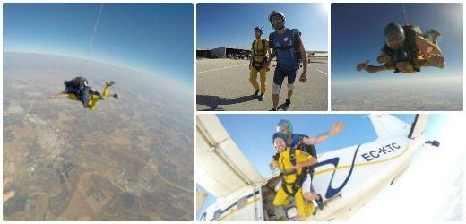 Salvador - Salto en paracaidas en Sevilla
