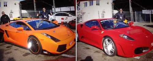 Ferrari + Lamborghini en Zuera