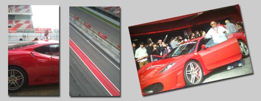 Francisco con el Ferrari F430 en Montmeló.