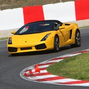 Lamborghini Gallardo Driving in Los Arcos 3,9km (Navarra) - 1 lap