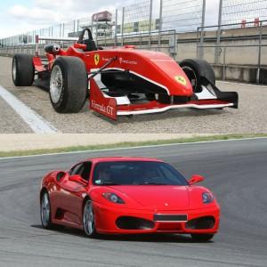 Ferrari + Formula 2.0 in El Jarama 3,8km (Madrid) - 2 laps (1 per car)