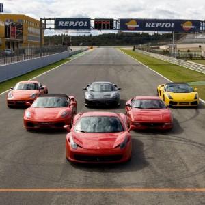 Ferrari + Lamborghini + Porsche in Cheste 3,1km (Valencia) - 3 laps (1 per car)