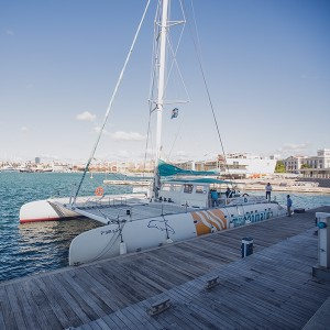 Catamaran excursion + paella on board in Valencia