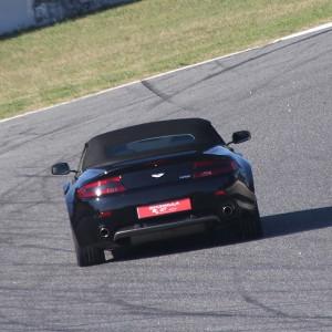 Aston Martin Vantage Driving in Montmeló Nacional 3km (Barcelona)