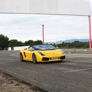 Lamborghini Gallardo Driving in Calafat 2,6km (Tarragona)