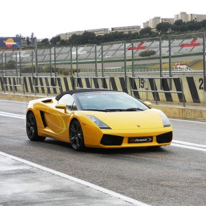 Lamborghini Gallardo Driving in Can Padró 2,2km (Barcelona)