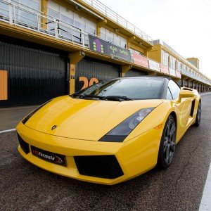 Lamborghini Gallardo Driving in El Jarama 3,8km (Madrid)