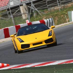 Lamborghini Gallardo Driving in Montmeló Nacional 3km (Barcelona)