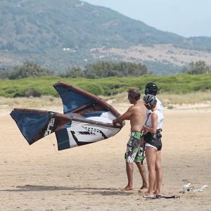 Kitesurfing in Tarifa (Cádiz)