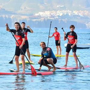 Paddle surf initiation course in Valencia