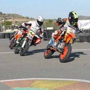 Motorcycle riding course on asphalt in Cheste (Valencia)