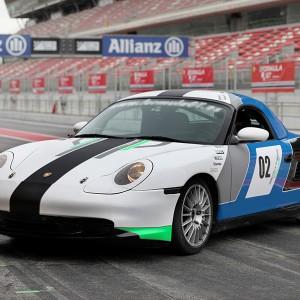 Porsche Sliding Drift in Brunete (Madrid)