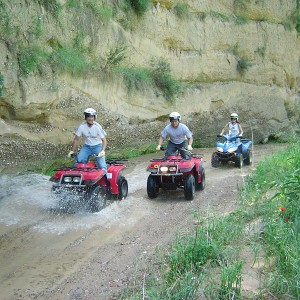 Quad excursion in Sant Sadurní d'Anoia (Barcelona)