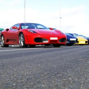 Ferrari + Lamborghini + Porsche in Monteblanco 3,9km (Huelva)