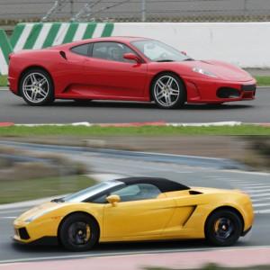 Ferrari Track and Lamborghini Highway Driving in Cheste 3,1km (Valencia)