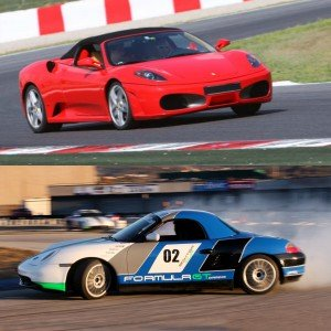 Ferrari + Porsche Drift in Montmeló Escuela 1,7km (Barcelona)