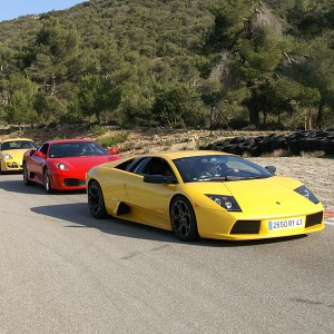Ferrari and Lamborghini Highway Driving in Campillos (Málaga)
