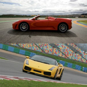 Ferrari + Lamborghini in Montmeló Nacional 3km (Barcelona)