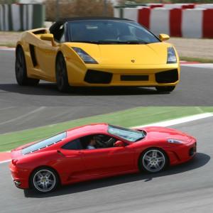 Lamborghini Track and Ferrari Highway Driving in Calafat 2,6km (Tarragona)