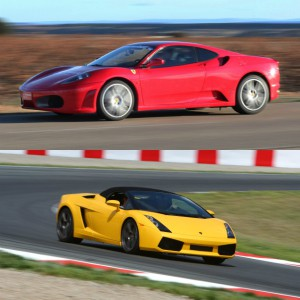 Lamborghini Track and Ferrari Highway Driving in Campillos 1,6km (Málaga)
