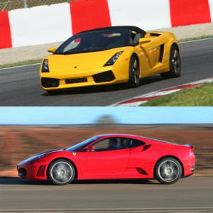 Lamborghini Track and Ferrari Highway Driving in El Jarama 3,8km (Madrid)