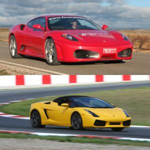 Lamborghini Track and Ferrari Highway Driving in Kotarr 1,8km (Burgos)