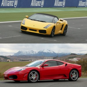 Lamborghini Track and Ferrari Highway Driving in Los Arcos 3,9km (Navarra)