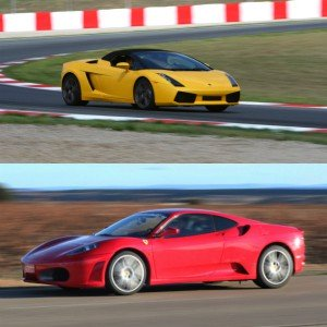 Lamborghini Track and Ferrari Highway Driving in Montmeló Escuela 1,7km (Barcelona)