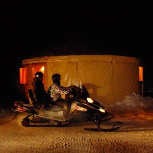 Nocturnal snowmobile excursion + supper for two 2019/20 in Grandvalira (Andorra)