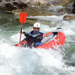 Open kayak Yeti-Moleta 4.5km in Llavorsí (Lleida)