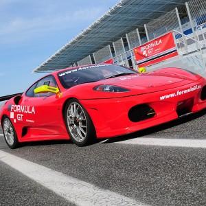 Ferrari F430 GTS Challenge driving in Montmeló GP (Barcelona)