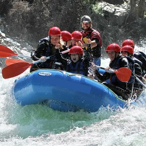 Rafting for kids and families 5km in Llavorsí (Lleida)