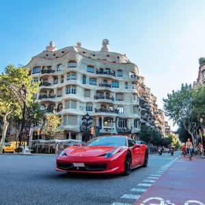 Ferrari 458 Italia Driving in Barcelona City (Barcelona)