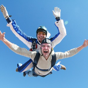 Skydiving in Lillo, near (Madrid)