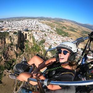 Paramotor flight in Ronda (Malaga)