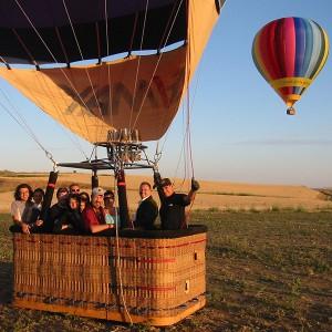 Hot air balloon flight in Villanueva de la Cañada (Madrid)