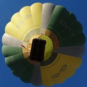 Hot air balloon flight in Girona