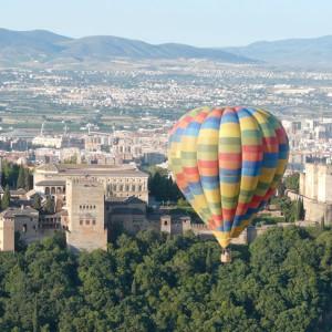 Hot air balloon flight in Granada