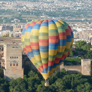 Hot air balloon flight in Granada