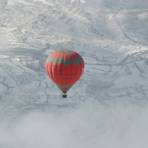 Hot air balloon flight in Guadix (Granada)
