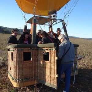 Hot air balloon flight in Lleida