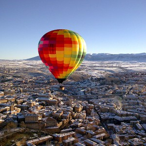 Hot air balloon flight in Segovia