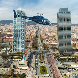 Helicopter flight in Barcelona