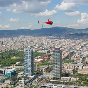 Helicopter tour for two over Montserrat and Barcelona