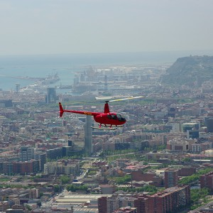 Helicopter tour for two in Barcelona