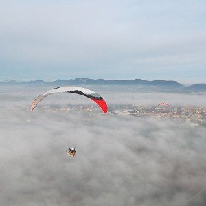 Paratrike flight in La Rioja